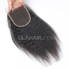 Ula Hair 7A Virgin Brazilian Human Hair Lace Closure Kinky Straight Lace Closure Brazilian Virgin Hair Retail 1Pc