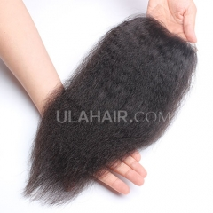 Ula Hair 7A Malaysian Virgin Human Hair Lace Closure Kinky Straight Lace Closure Malaysian Virgin Hair Retail 1Pc