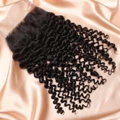 8A Ula Hair Peruvian Kinky Curl Lace Closure Virgin Human Hair Lace Closure Lace Closure Peruvian Virgin Hair Lace Closure Retail 1Pc