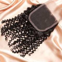 14A Ula Hair Malaysian Kinky Curl Lace Closure Virgin Human Hair Lace Closure Lace Closure Malaysian Virgin Hair Lace Closure Retail 1Pc