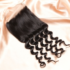 14A Ula Hair Peruvian Loose Curl Lace Closure Virgin Human Hair Lace Closure Lace Closure Peruvian Virgin Hair Lace Closure Retail 1Pc