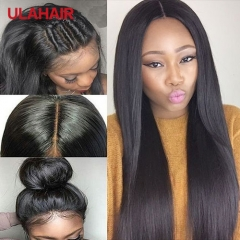 Ula Hair 7A Lace Front Wigs 150% Density Straight Virgin Hair Lace Frontal Human Hair Wigs For Black Women Hair