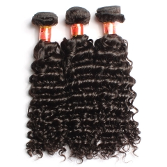【12A 3PCS】Brazilian Deep Wave 3 bundles Virgin Human Curly Hair 3 Bundles Free Shipping
