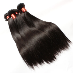 【12A 4PCS】Straight Brazilian Virgin Hair Mixed Length Human Hair Bundles No Shedding Free Shipping