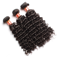 【12A 4PCS】Peruvian Deep Wave Virgin Curly Hair Bundles Unprocessed Human Hair No Shedding No Tangle Free Shipping