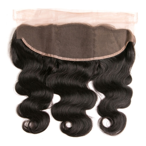 【12A】HD Undetectable Transparent Lace Body Wave 13x4 Lace Frontal Closure Natural 1B# Color