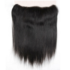 【12A】HD Undetectable Transparent Lace Straight 13x4 Lace Frontal Closure Natural 1B# Color