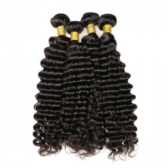 【13A 4PCS】Brazilian deep wave virgin hair human Brazilian Curly Hair Bundles mixed length Free Shipping