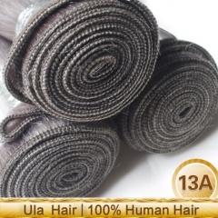 Ula Hair 13A 1Bundle Brazilian Gray Body Wave Human Hair Silver Remy Hair Extensions Brazilian Grey Hair