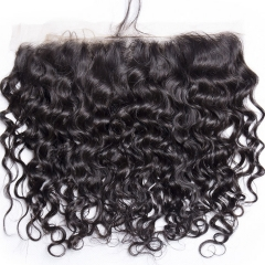 【12A】 Italy Curl Lace Frontal Closure Human Hair 13x4 Lace Frontal Closur