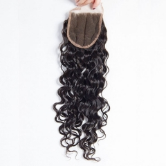 【12A】 Italy Curl 4*4 Lace Closure Middle/Free/Three Part Natural Color