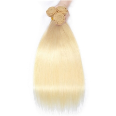 【12A 3PCS】 3 bundle Unit Brazilian #613 Straight Hair Bundles Virgin Hair Blonde Straight Hair Extension Free Shipping
