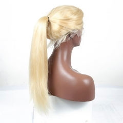 13A 613# Blonde Full Lace Wig Straight Hair 180% density Customize Wig 7 working days