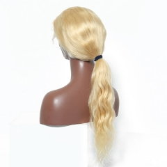 13A Body wave Hair 613# Blonde Full Lace Wig 180% density Customize Wig 7 working days