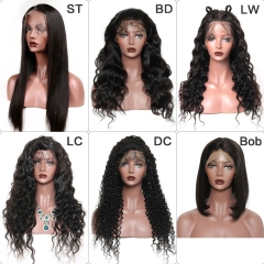 Wholesale 13x4 Lace Frontal Wigs with Brown Lace for Straight/Body Wave/Loose Wave/Curly/loose Curly Lace Wigs 10PCS