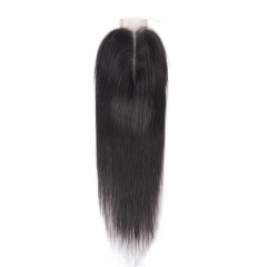 【12A】 Straight Hair 2*6 Lace Closure Middle/Free/Three Part Natural Color Human Unprocessed Hair