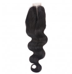 【12A】 Body Wave Hair 2*6 Lace Closure Middle/Free/Three Part Natural Color Human Unprocessed Hair