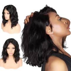 【In stock】13A 13x6 Natural Wave Lace Front BOB Wig 150% Density Short BOB Virgin Human Hair 13x6 Big Part Lace Wig