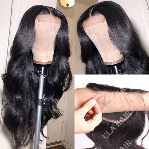 【In Stock】13A 30inch HD Lace Wig with 5*5 Closure 250% Density Body Wave Virgin Human Hair Undetectable Transparent Swiss Lace Closure Wigs ULHD02