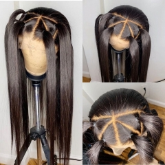 【In stock】13A Grade Straight Full Lace Wigs 200% 180% 150% Density Virgin Hair Full Lace Human Hair Wigs ULW15