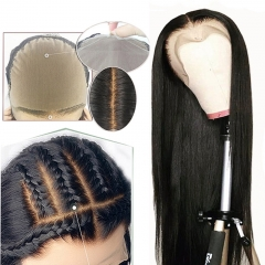 Fake Scalp Wig Lace-Front Bleached Knots Glueless Preplucked 13x6 Straight Lace Wig [Agatha]