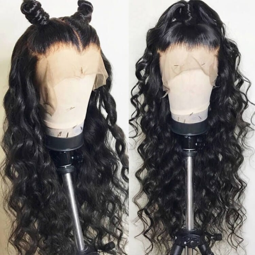 【In stock】13A Lace Frontal Wig 13x6 Loose curly Pre-Plucked 150% Density Lace Frontal Wig Hand-made Swiss Lace Wig Natural Hairline