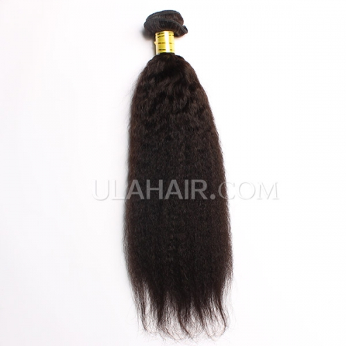 Ula Hair 13A 1PC Grade Peruvian Virgin Hair Kinky straight Human Hair Extensions Peruvian Kinky Straight Virgin Hair