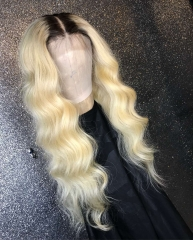 13A Grade 180% Density 1b-613# Body Wave Blonde Color 13x4 Lace Front Wigs Virgin Natural Human Hair Hand-tied Wigs Customize in 3 Days!