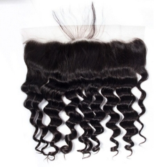 【12A】Loose Deep Wave Lace Frontal Closure Human Hair 13x4  Loose Curly Lace Frontal Closure