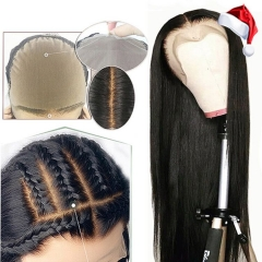 Customize 7 days! Fake Scalp Wig Lace-Front Bleached Knots Glueless Preplucked 13x6 Straight Lace Wig [Agatha]