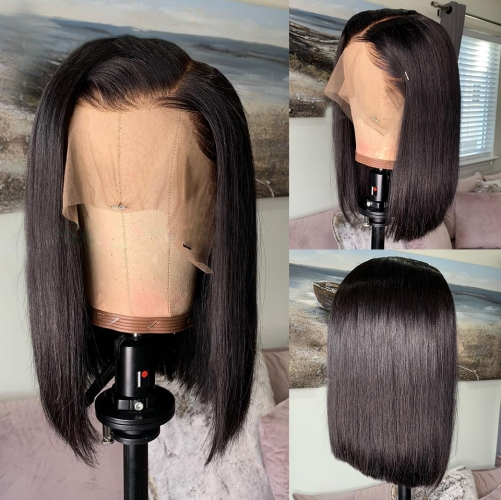 【In stock】13A 13x6 Straight Lace Front BOB Wig 150% Density Short BOB Virgin Human Hair 13x6 Big Part Lace ULW06