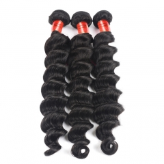 【12A 3PCS】Malaysian Loose Curly 3 bundles Virgin Loose Deep Wave Human Hair Free Shipping