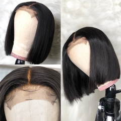 【Recommend】13A 250% Density Bob 4*4/5*5/13*4 Closure Wig 250% density Undetectable Lace Wig Straight Hair Customize 3 days ULHD07