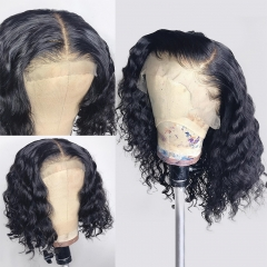 【New Arrival】Water Wave Bob 4*4/13*4 Closure Wig 250% density Virgin Human Hair Lace Frontal Wigs Customize 3 days