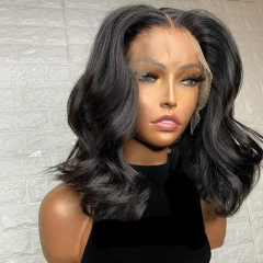【Hot】Lace Bob 4*4/5*5/13*4 Closure Wig 250% density Undetectable Lace Wig Body Wave Hair Customize 3 days ULW35