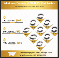 3D 5D Mink Eyelashes Wholesale