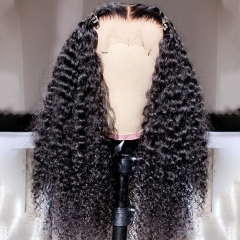 【New Arrival】13A Mongolian Curly 4x4/13x4 Lace Frontal Closure Kinky Curly Wig With 250% Density Virgin Human Hair Lace Wig Customize 3 days ULW38
