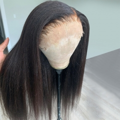 【New Arrival】13A Kinky Straight 4x4/13x4 Lace Frontal Closure Wig 250% density Virgin Human Hair Lace Wig Customize 3 days ULW27
