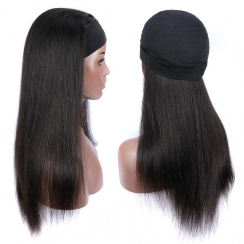 【Headband Wig】13A 250% Density NO GLUE NO SEW IN Straight/Body Wave/Curly Wig Full Weave Wig With 7 Pcs Free Headband Gifts ULHB01