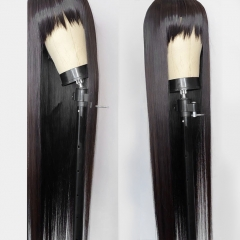 【New Arrival】13A 250% Density Full Machine Made Wig 30inch Long  Straight Wig With Bangs Virgin Human Hair Customize For 3 Days! ULW37