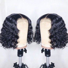 【In Stock】13A Water Wave 250% Density Bob 13*4 Frontal Wig Thick Lace Wig