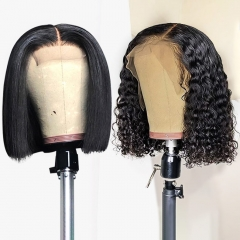 【Special offer❤】13A 250% density bob closure wig, one order get two bob wigs with gifts