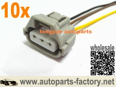 longyue 10pcs  3-way toyota female plug connector pigtail 8""