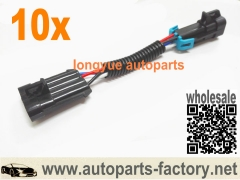 longyue 10pcs O2 Oxygen Sensor Adapter Harness Back to Front LT1 LS1