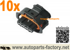 longyue 10pcs 4 Way Ignition Coil Connector Set For Volvo C70 S60 S70 S80 V70 XC70 XC90 2.4L
