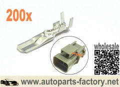 200pcs Male Terminals For Alternator connector fit Bosch - Hitachi - Mitsubishi - Ford - Holden