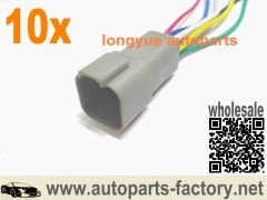 10pcs OEM 6pin Deutsch DT Series Industrial GRAY Male Plug Connector Pigtails