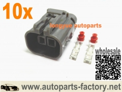 longyue 10pcs Alternator Repair Plug Connector Maxima Murano I30 I35 Nissan Knock / Alt 2p Connector