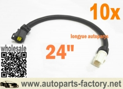 10pcs 99-08 Chrysler Cirrus Dodge Ram Jeep Wrangler Vehicles - Air Temp Sensor Extension Harness 24""