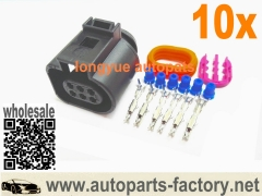 10set 6pin Connector Fit O2 Sensor 2011+ Mustang GT Front O2 Oxygen Extension adapter- 1J0 973 713